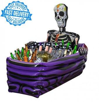 Надувной Скелет гроб Напитки Охладитель Хэллоуин Вечеринка клуб паба крутое смешное украшение день мертвых надувной пропеллер
