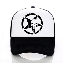 Punisher Baseball caps summer Men and women trucker cap Casual outdoor Mesh hip hop snapback hats Frank Castle hat