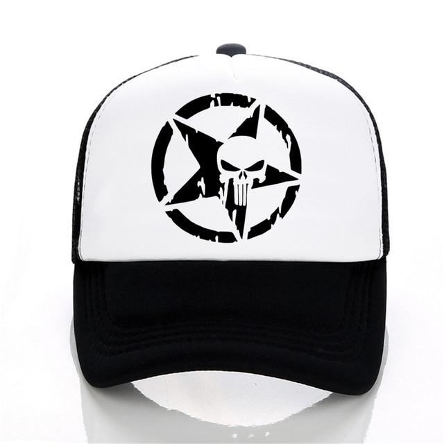 83873417ffe Punisher Baseball caps summer Men and women trucker cap Casual outdoor Mesh  cap hip hop snapback hats Frank Castle hat