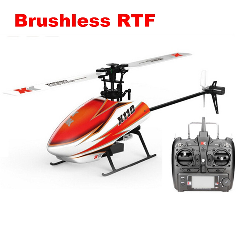 XK K110 Blast 6CH Brushless 3D6G System RC Helicopter RTF / BNF for Kids Children Funny Toys Gift RC Drones Outdoor wltoys v950 6ch 3d6g system flybarless big rc helicopter with brushless motor 2 4g rtf