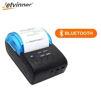 Jetvinner Mini 58mm Thermal Printer Buletooth USB POS Receipt Printers With Thermal Paper for Restaurant, Supermarket EU/US Plug