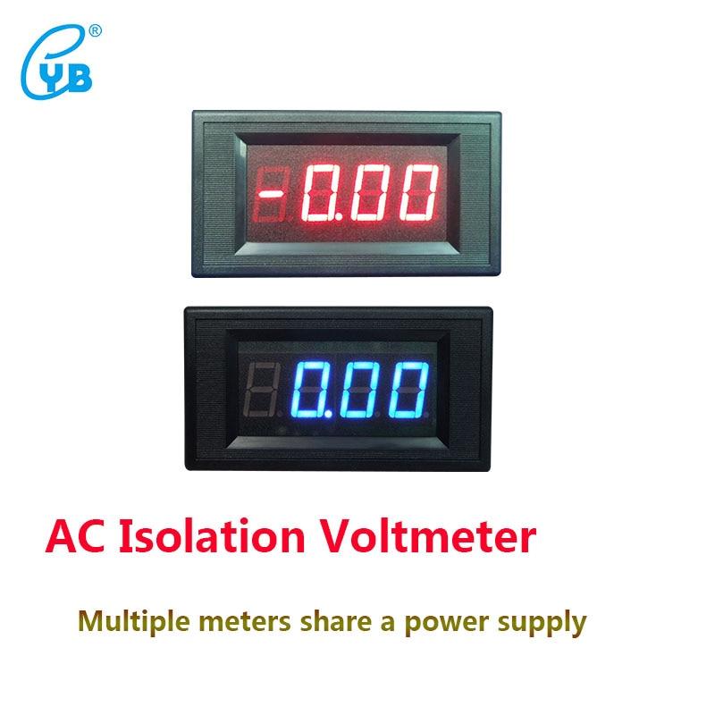 YB5135AI AC Isoliert Voltmeter Drei und Eine Halbe Spannung Meter Led-digitalanzeige Voltmeter AC Voltage Meter Tester ICL 7107