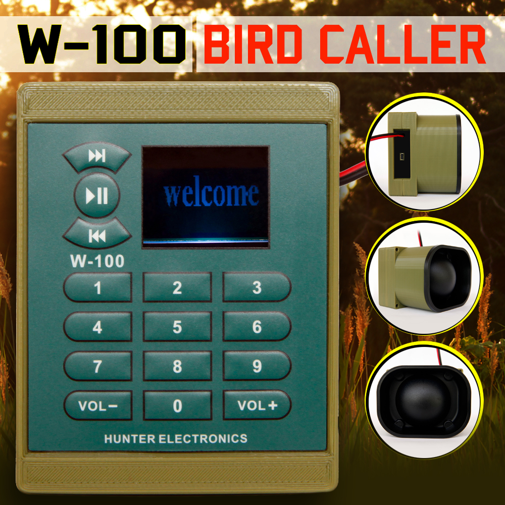 FREE SHIPPING ELECTRONIC MP3 BIRD CALLER WITH TIMER