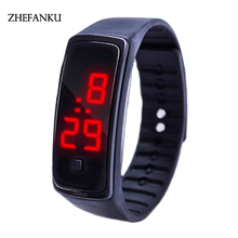 Cheap Women's Watches Rubber LED Ladies Watch Date Sports Women Bracelet Silicone Digital Wrist Ladies Watch Clock Reloj Mujer