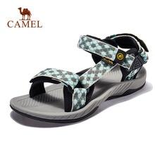 CAMEL/женские и мужские уличные сандалии; клетчатые Летние повседневные удобные нескользящие треккинговые туфли; пляжные рыболовные сандалии