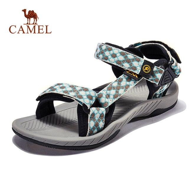 الجمل النساء الرجال في الهواء الطلق الصنادل منقوشة الصيف عادية مريحة المضادة للانزلاق المشي حذاء ارتحال الصنادل الشاطئ الصيد