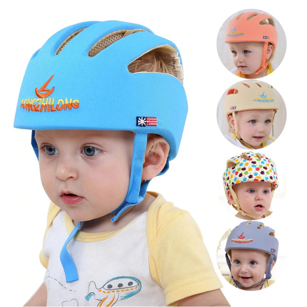 Image 5 - VICIVIYA Infant Protective Hat Safety Helmet For Babies Cotton Baby Toddler Anti collision Cap Kids Sun Hats Soft Children Caps#-in Hats & Caps from Mother & Kids