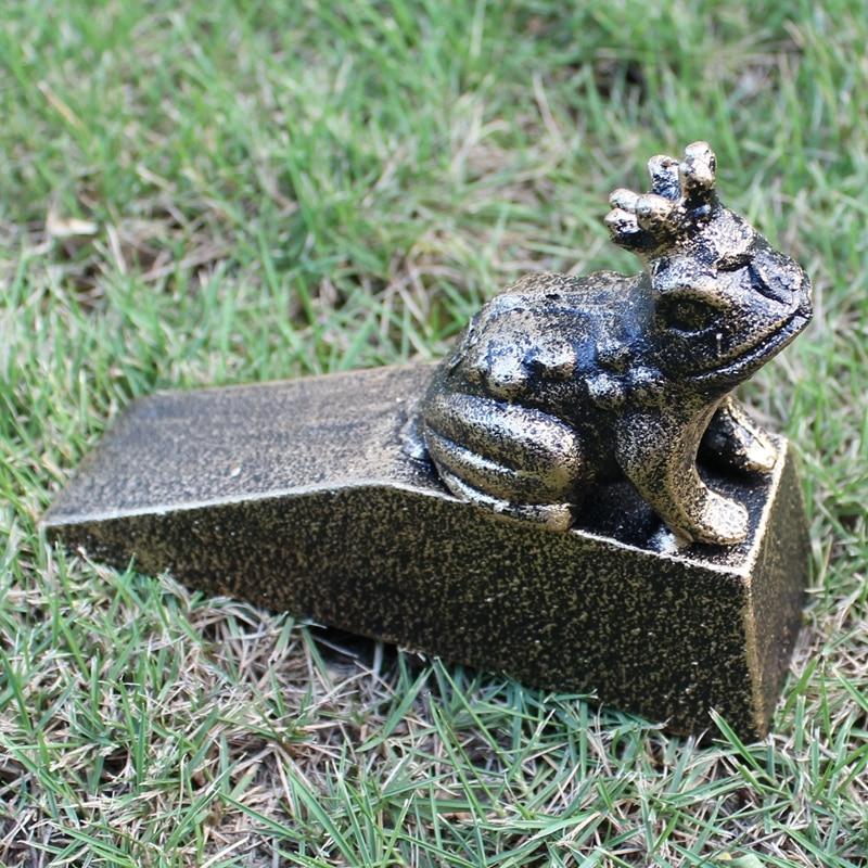 2 Decorative Cast Iron Door Stop Doorstop Wedge Frog Black Bronze Classic Design Door Stopper Animal Home Office Metal Decor футболка new balance new balance ne007embpxi4
