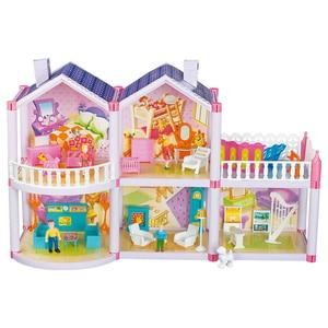 Image 4 - Barbie Doll DIY Dream House Accessories Children Castle Villa Educational Toy Boy Girl Birthday Christmas New Year Gift