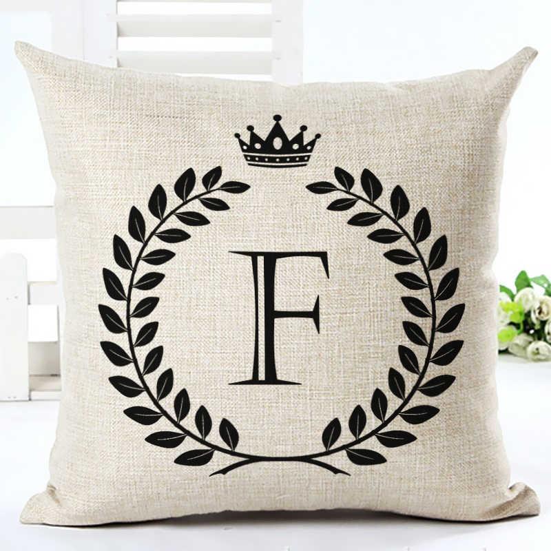 Высокое качество письмо мультфильм подушки домашний декор Cojines диван подушка хлопок и лен с принтом квадратный альмофад