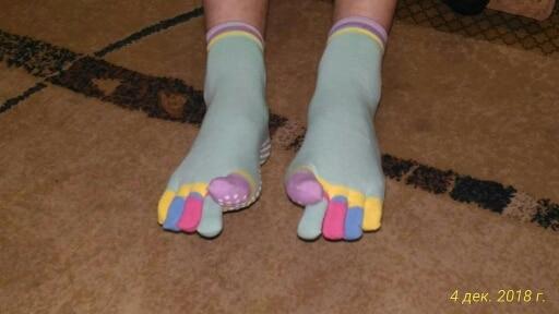 Women Sports Colorful Yoga Socks Hot Fitness And Pilates Cotton Socks Rainbow Workout Anti Slip Toe Socks Breathable Purple