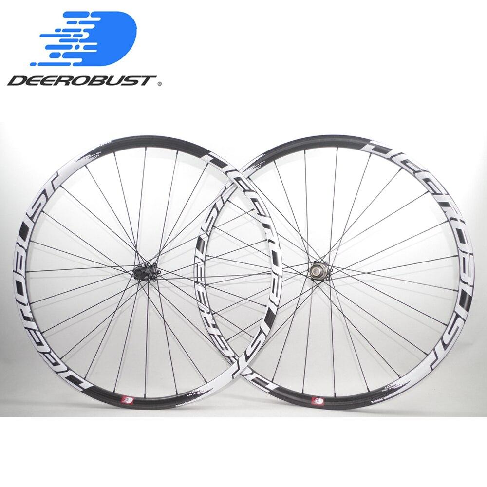 1089g FLT 700C 25mm 38mm 50mm Asymétrique Carbone Tubulaire Route Frein À Disque Cyclocross Vélo Roues CX vélo Roues 24 Trous
