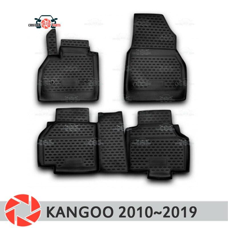 Tapis de sol pour Renault Kangoo 2010 ~ 2019 tapis antidérapant polyuréthane protection contre la saleté accessoires de style de voiture intérieure