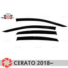 Окно дефлектор для Kia Cerato 2018 ~ дождь дефлектор грязи Защитная оклейка автомобилей украшения интимные Аксессуары Литья