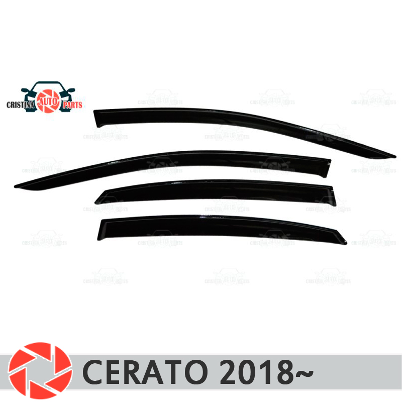 Window deflector for Kia Cerato 2018~ rain deflector dirt protection car styling decoration accessories molding car specific led drl daytime running light for kia k3 cerato with yellow turn light function fast free shipping