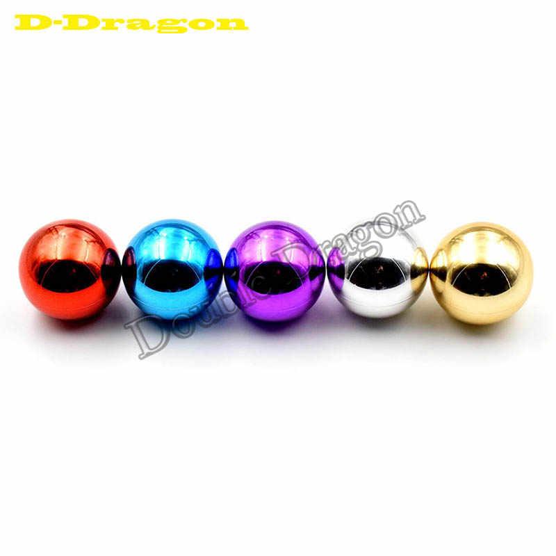 Sanwa /Zippy 조이스틱을위한 최신 둥근 정상 공 Topball 35mm 금은 자주색 파란 빨강 DIY 아케이드 게임 기계 부속
