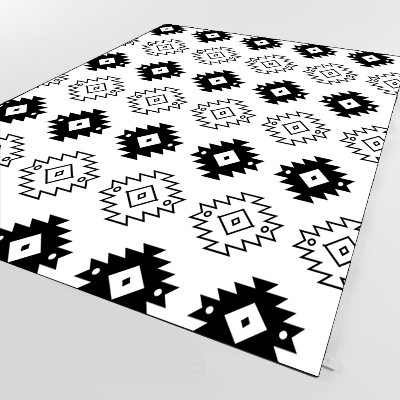 Else Black White Ethnic Geometric Aztec 3d Print Non Slip Microfiber Living Room Decorative Modern Washable Area Rug Mat