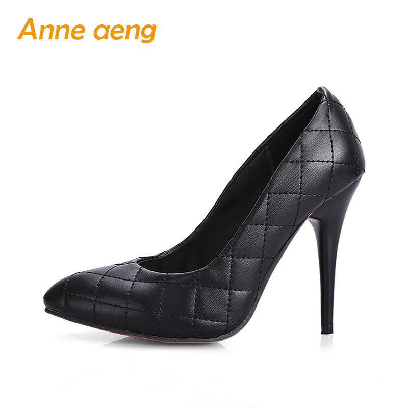High Thin Heel Sexy Office Ladies' Pumps Retro Elegant Wedding Shoes Classic Pointed Toe Spring Black White Women shoes famiaoo women pumps chaussure femme black gray zapatos mujer tacon high heel 2017 pointed toe thin heel ladies pumps women shoes