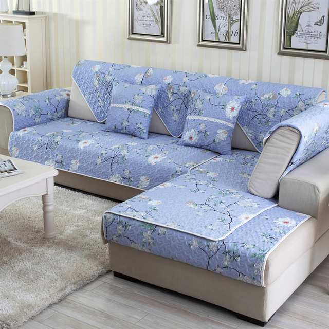 Cotton Printed Colorful Non Slip Sofa Cover Armrest Backrest Towel Cushion For Sectional Home