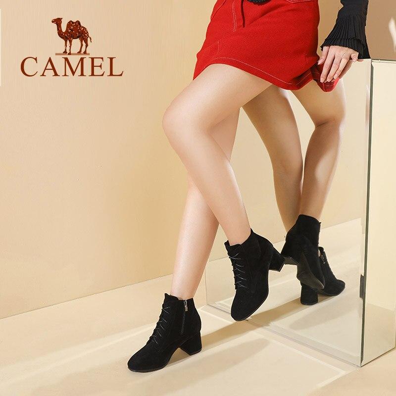 Chameau Dames Cuir Rétro Loisirs Pour Mode Cheville coffee Nouveau Sauvages Femmes Bottes Modren Casual Chaussures Black Martin Courtes En rwSrvzOqW