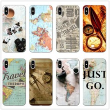 World Map Travel Just Go Soft Clear Phone Case Cover Coque Fundas For iPhone XS MAX 5 6 6Plus 7 7Plus 8 8Plus X