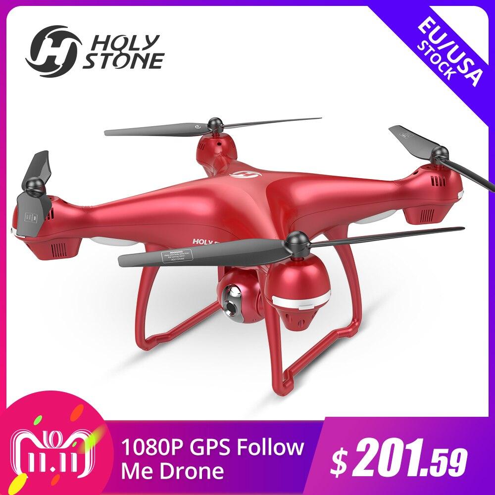цены на US Germany Stock Holy Stone HS100R GPS FPV Selfie Drone 1920*1080P Wi-Fi FHD 500M FPV 120 Camera FPV GPS Follow Me Quadcopter в интернет-магазинах