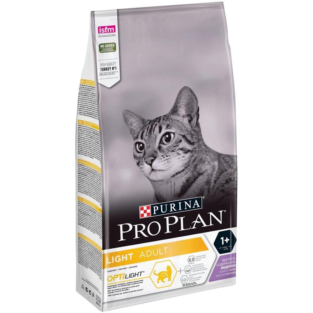 Cat food Pro Plan Light low calorie for cats, Turkey, 1,5 kg power system low calorie drink l carnitin 800 gr