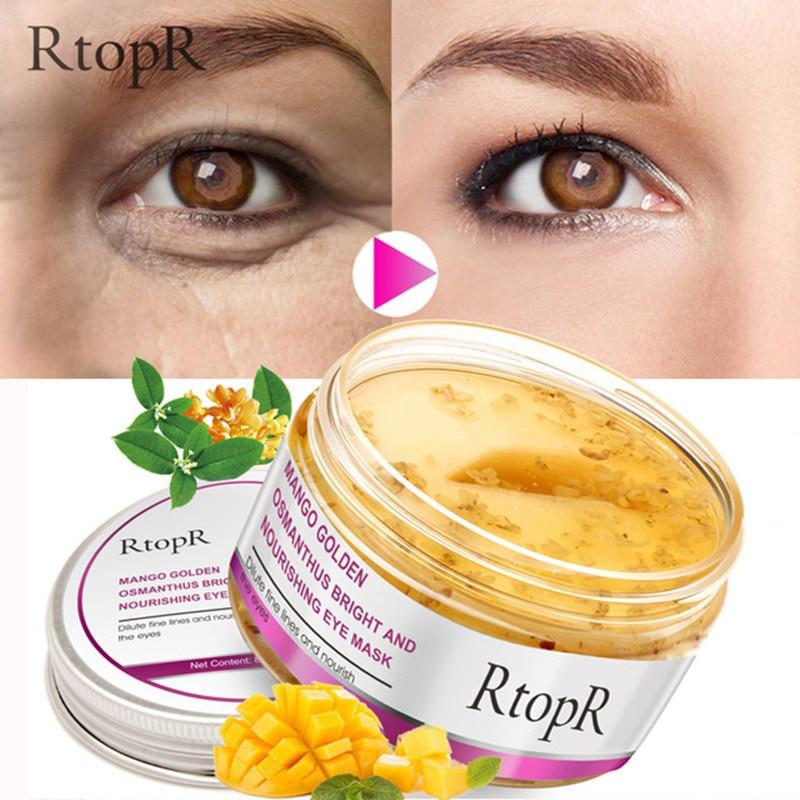 40 teile/schachtel Auge Maske Mango Goldene Osmanthus Helle Und Pflegende Hautpflege Anti-Schwellungen Dunkle Kreis Anti-Aging behandlung Maske