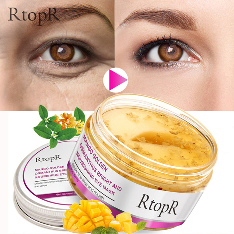 40 unids/caja máscara de ojo de Mango de oro Osmanthus brillante y nutritiva de la piel cuidado Anti-hinchazón círculo oscuro Anti-envejecimiento tratamiento máscara