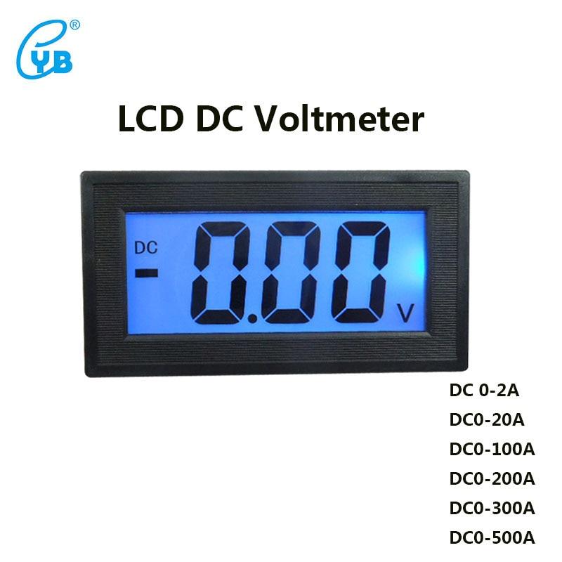 цена на YB5135D LCD DC Voltmeter Three-wire Digital Voltmeter Digital Voltmeter DC Voltage Meter Blue Backlit Full-sealed Meter Volt