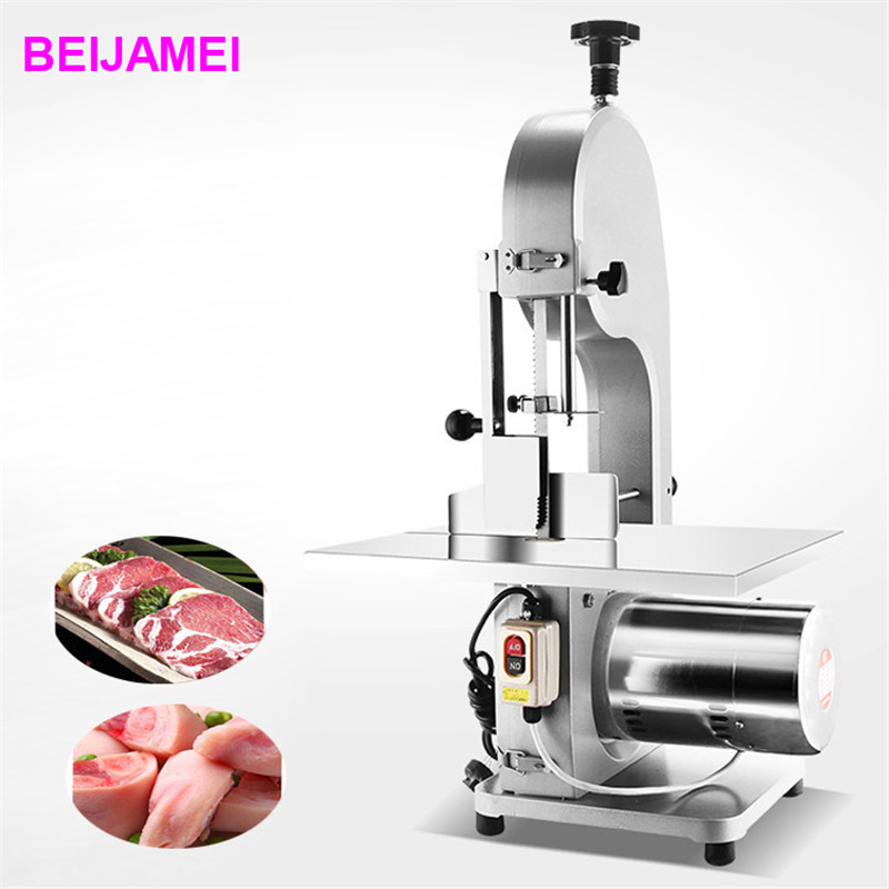 BEIJAMEI Table top frozen meat bone cutting machine/bone sawing machine/pork meat bone cutter price prediction of bone length from bone fragments