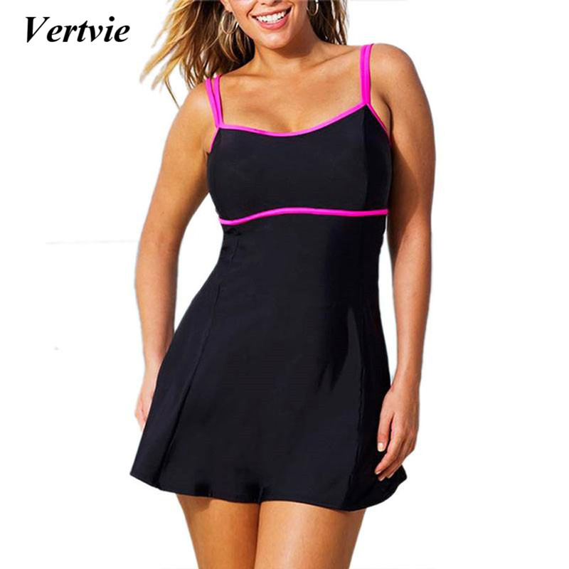 Women Black Sexy One-piece Swimwear High Cut Bikini Large Size Strap Plus Size 5XL 6XL Swimsuit Swim Dress Bathing Suit Baywatch shoulder cut plus size flower blouse