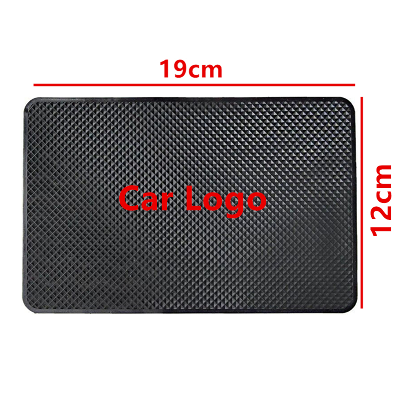 1PCS Universal 19*12cm Car Logo Anti Slip Mat Phone Holder Non-Slip Mat Non Slip Pad For All Auto Logo Mats vehicle car anti slip mat pad black 19 x 14cm