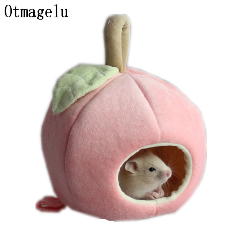 Mini Apple Small Pet House Cage Winter Warm Nest Cave Tunnel Toy Tube for Hamster Squirrel Animals Home Accessories Pet Supplies