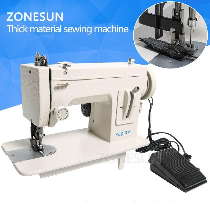 ZONESUN 106 RP straight бытовой швейной машины Мех Кожа упал одежда толстая Швейные инструмент толщиной материал ткани шить инструмент