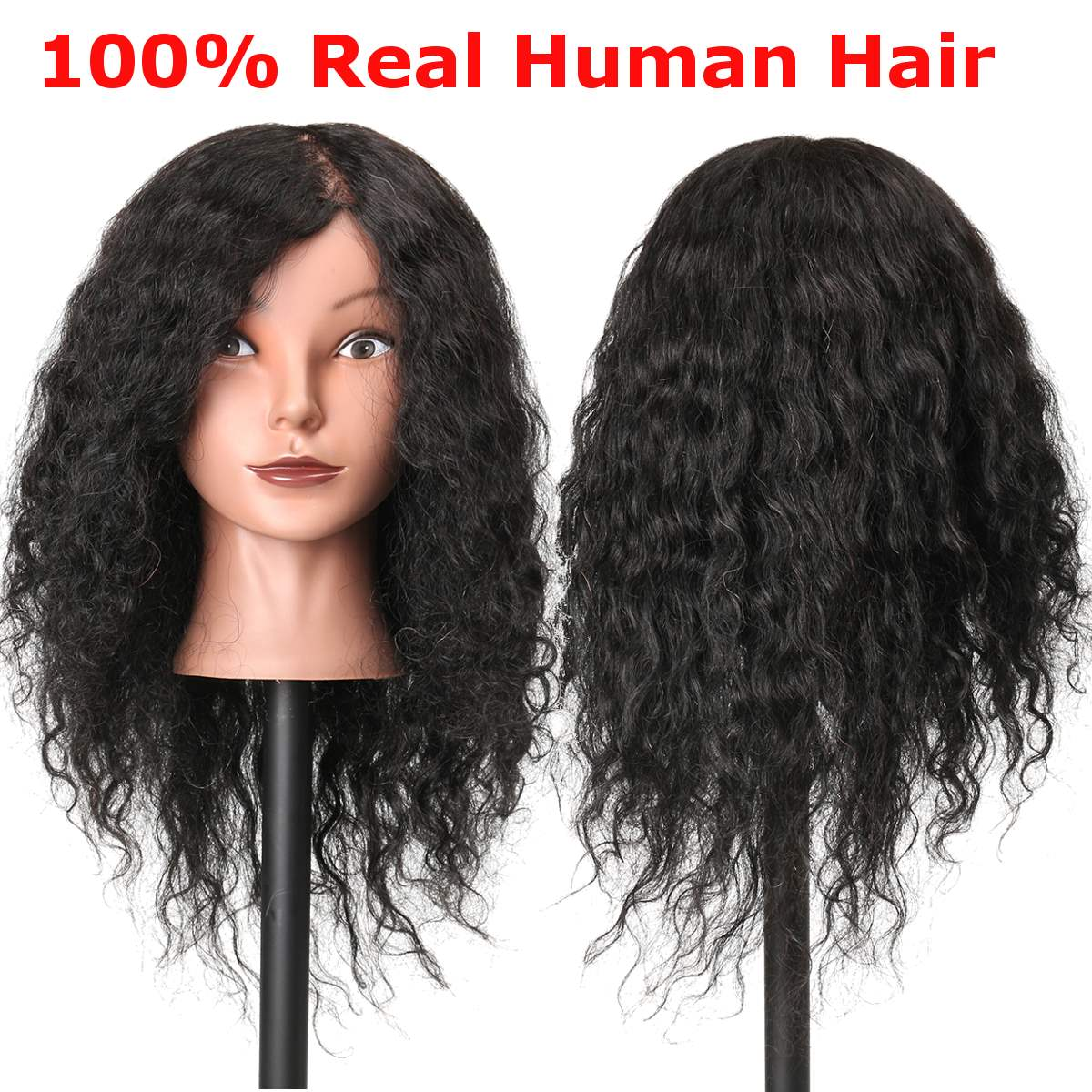 18 100 Real Human Hair Training Manequin Head With