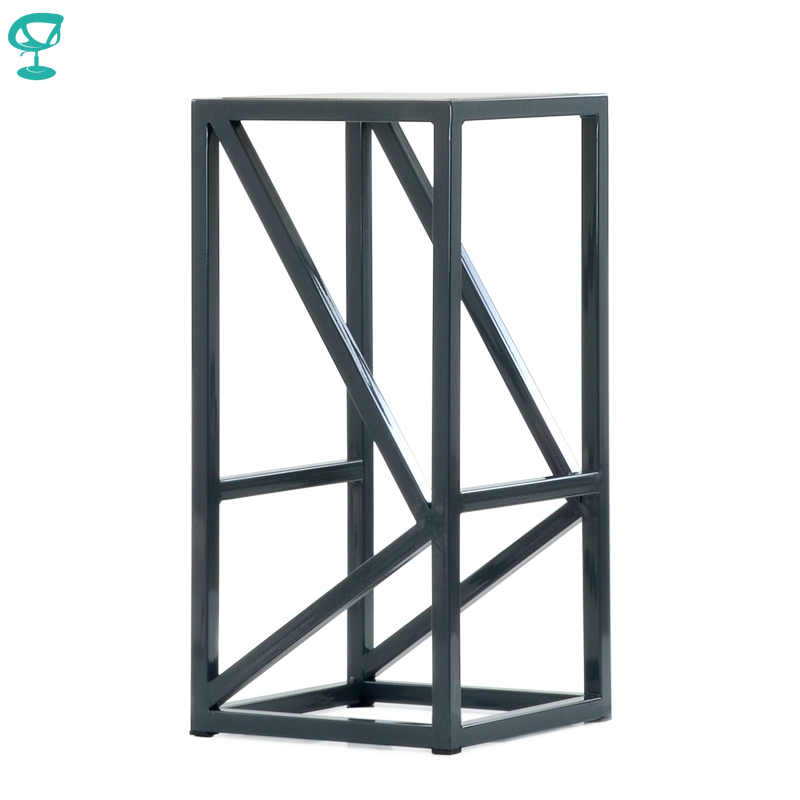 N305GrBrWood Barneo N-305 High Grey Metal Brown Wood Seat Interior Stool Bar Chair Kitchen Furniture Free Shipping In Russia