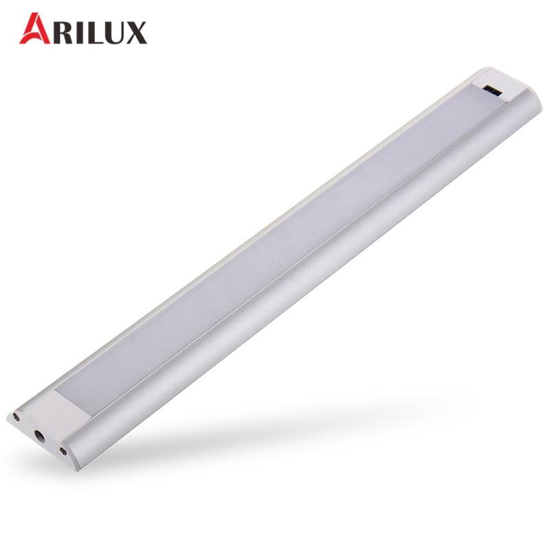 ARILUX LED Light Bar DC12V 5W 380LM Hand Sweep Sensor Cabinet Light AC110-240V To DC12V 0.5A EU Plug/US Plug Adapter 881 7 5w 330 380lm 6500 7500k 5 led blue light car foglight headlamp tail light