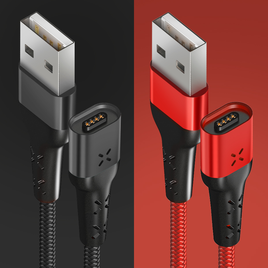 Anbes Type C Cable Micro Usb Charger Cable Nylon Braided Fast Charging Cable With Led Indicator For Samsung Xiaomi Date Cable Cellphones & Telecommunications