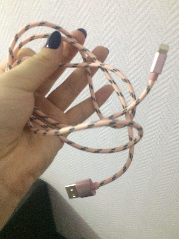 Cable USB iPhone Lightning de Carga Rápida y Nailon Trenzado photo review
