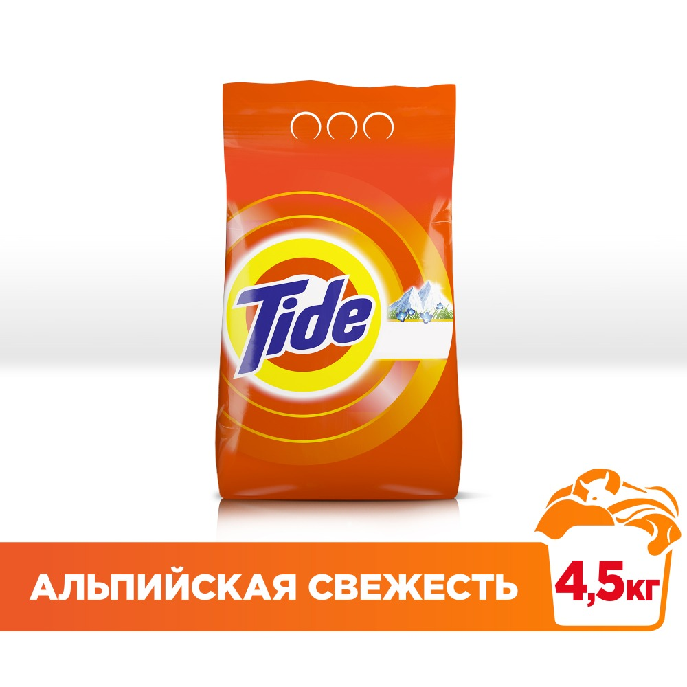 Laundry detergent Tide Automatic Alpine freshness 30 washes 4.5 kg. freshness wallet