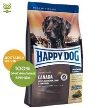 Happy Dog Supreme Sensible Canada корм для взрослых собак всех пород , Лосось, кролик, ягненок, 4 кг.