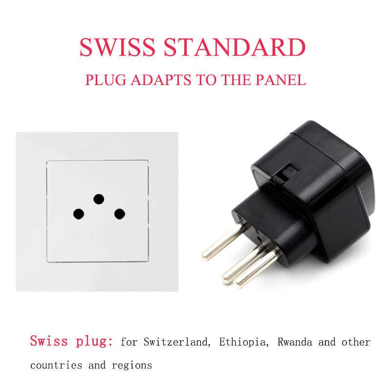 US/AU//UK/ue do szwajcarskiej Adapter szwajcarski wtyczka Adapter podróżny Adapter gospodarstwa domowego wtyczki zasilacz ładowarka szwajcarskiej turystyki konwersji