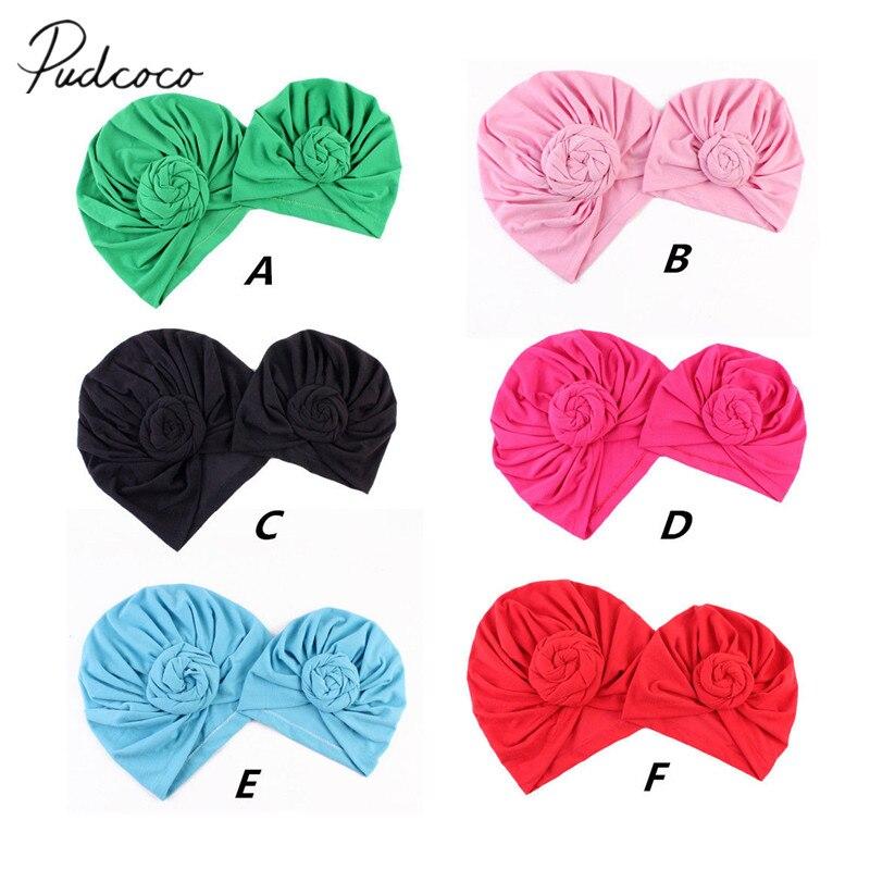 2018 1PCS Fashion Turban Knot Bobble Hat Mom Kids Baby Boys Girls Winter Warm Knit Beanie Cap Solid Knot Soft Family Caps Gift