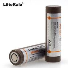 Original para LG Áudio o Cigarro Liitokala 2 Pcs 18650 B4 3.6 V 2600 Mah Battrey para Mobile Power Lanterna Eletrônico Batterypack