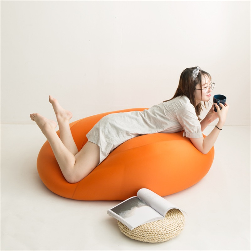 Japanese-style Pear-shaped Lazy Couch Modern Bean Bag Sofa Tatami Creative Bedroom Small Apartment Single Simple Bean Bag Sofa pear style silicone tea bag orange