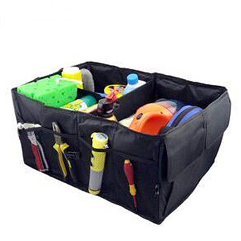Gentil New Good Quality More Strong Car Back Folding Storage Box Multi Use Tools  Organizer Car Portable Storage Bag Black Auto Supplies In Stowing Tidying  From ...
