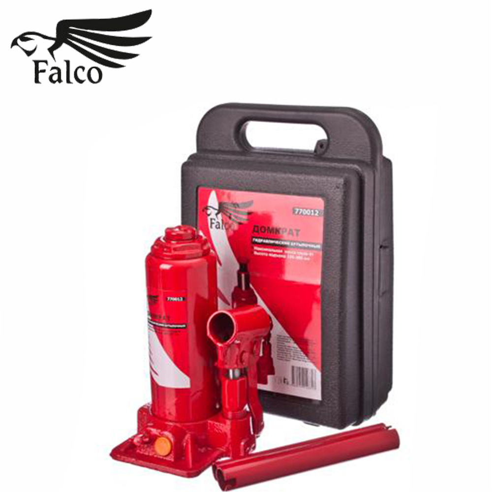 JACK DOMKRAT FALCO Hydraulic Bottle 4 T In The Case Lifting Height 195 - 380 Mm Knives High Quality Discount Sales Knife 770-074