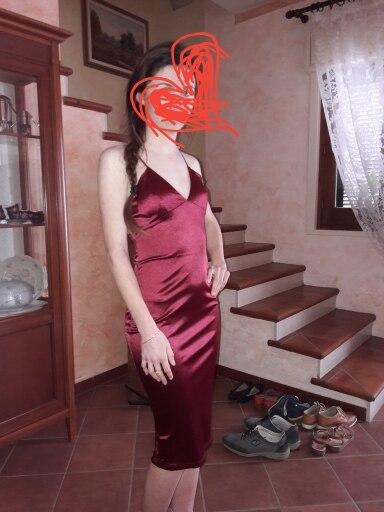 COLROVIE Burgundy Satin Party Club Dress 2017 Deep V Neck Women Summer Dresses Sexy Bodycon Strap Ruched Ladies Midi Slip Dress