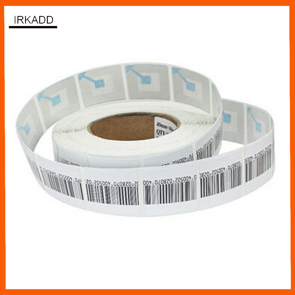 5000 piece RF 8.2Mhz eas security labels stickers security tag for retail store with barcode ...